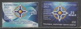 KAZAKHSTAN, 2017, MNH, COLLECTIVE SECURITY TREATIES, 2v - Stamps