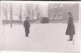 Foto Formation Deutsche Soldaten Im Winter - Appell - 2. WK - 10*6,5cm (34738) - Krieg, Militär
