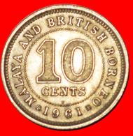 √ GREAT BRITAIN: MALAYA AND BRITISH BORNEO ★ 10 CENTS 1961H! LOW START ★ NO RESERVE! - Malaysie