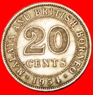 √ GREAT BRITAIN: MALAYA AND BRITISH BORNEO ★ 20 CENTS 1954! LOW START ★ NO RESERVE! - Malaysie