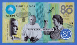Australia CSIRO 80 Years Commemorative Polymer Specimen Note 2006 Unc- - Specimen