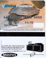 AUSTRALIA - Turtle, Global Financial, Multos Test Card - Geldkarten (Ablauf Min. 10 Jahre)