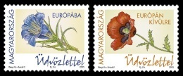 Hungary 2016 Mih. 5810/11 Flora. Flowers. Gentian And Poppy MNH ** - Ungheria