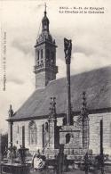 29 - Finistere - QUEMENEVEN -  N.D De Kergoat - Le Clocher Et Le Calvaire - France