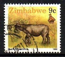 ZIMBABWE. N°197 Oblitéré De 1990. Rhinocéros. - Rhinozerosse