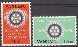 VANUATU, 1980 ROTARY(BR) 2 MNH - Vanuatu (1980-...)