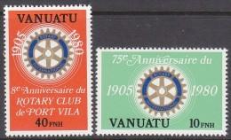 VANUATU, 1980 ROTARY(FR) 2 MNH - Vanuatu (1980-...)