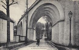 CARTE POSTALE ANCIENNE,28,EURE ET LOIR,CHARTRES, EN 1945,PLAINE DE BEAUCE,VIADUC,CHEMIN DE FER,VIEIL HOMME - Chartres