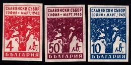 Bulgaria SG 546-548 1945 Slav Congress, Imperforated, Mint Never Hinged - 1909-45 Kingdom