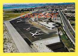 [06] Aéroport De NICE COTE D'AZUR Vue Prise Vers Cagnes Et Antibes ( Aviation Airport Aérogare Avion ) - Aeródromos