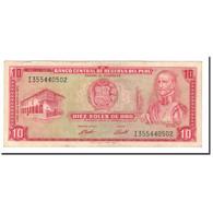 Billet, Pérou, 10 Soles De Oro, 1969-1974, 1973-05-24, KM:100c, TTB - Pérou
