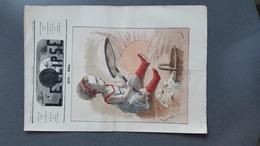 JOURNAL 1870 L ECLIPSE N°102 CARICATURE POLITIQUE DESSIN GILL - Zeitungen