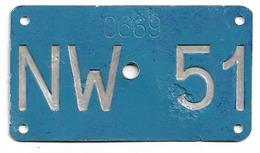 Velonummer Nidwalden NW 51 - Number Plates