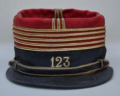 Képi Du Colonel Du 123 RI 1901-1906 Nominatif - Copricapi
