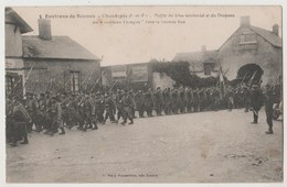 CPA 35 CHANTEPIE Défilé Du 4ème Territorial Et Du Drapeau - Autres Communes