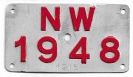 Velonummer Nidwalden NW 48 - Plaques D'immatriculation