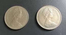INGHILTERRA - GREAT BRITAIN - 1969 E 1970  - 2 Monete 10 New Pence - Altri