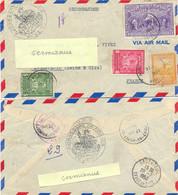 HAITI PORT-AU-PRINCE  LR AMBASSADE DE FRANCE 17 JUIL 1950 Via  MIAMI FLA. AIR MAIL SEC TàD 17 & NEW-YORK N.Y.  TàD 18 - Haiti