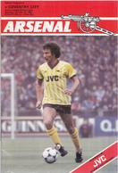 Voetbal - Programmaboekje  Arsenal – Coventry City - 15 Oktober 1983 – Highbury Londen - Programma's
