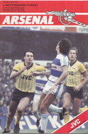 Voetbal - Programmaboekje  Arsenal – Nottingham Forest - 22 Oktober 1983 – Highbury Londen - Programma's