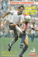Voetbal - Programmaboekje  E.K Engeland – Noord-Ierland - 15 Oktober 1986 – Wembley Londen - Programme