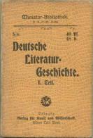 Miniatur-Bibliothek Nr. 5-8 - Deutsche Literaturgeschichte I.Teil - 8cm X 11cm - 164 Seiten Ca. 1900 - Verlag Für Kunst - Libri, Riviste, Fumetti