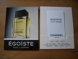 Carte Chanel Egoiste Carte+porte Carte - Perfume Cards