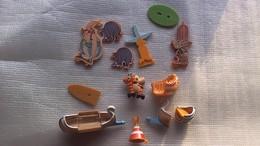 KINDER Astérix Et Les Indiens 1997 Lot Incomplet Tipi Bateaux Totem - Families