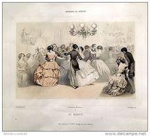 Ancienne LITHOGRAPHIE 19 ème S.*BAGNERES DE BIGORRE < LE CASINO* Par DE MONTAUT /LITHO  Ch.BARGUE - Lithographies