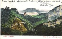 Sächs. Schweiz V. 1905  Blick In Den Amselgrund  (050) - Auersberg