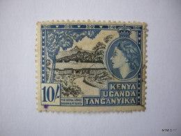 KENYA UGANDA TANGANYIKA 1954. 10s. Black & Blue. Royal Lodge Sagana & Mt. Kenya. SG 179. Used. - Kenya, Uganda & Tanganyika