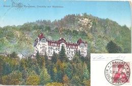 """AK  """"Chamby Sur Montreux - Hôtel Des Narcisses""""  (Bahnstempel Montreux-Zweisimmen)            1910 - Chemins De Fer"""