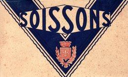 02-SUPERBE CARNET COMPLET DE 12 CPA DE SOISSONS - Soissons
