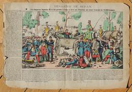 Vers 1880 - Image D'Épinal- Le Désastre De Sedan - Pinot & Sagaire - FRANCO DE PORT - - Lithographies
