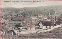 Rare Old Postcard Roslyn Long Island LI Showing The Village From C.H. Pumping Station New York United States USA - Long Island