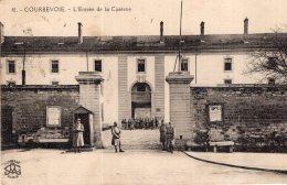 V14253 Cpa 92 Courbevoie - L'entrée De La Caserne - Courbevoie