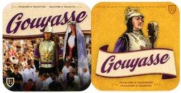 Gouyasse. Goliath Et Madame. Géants De La Ducasse D'Ath. Château-brasserie. Folklore Et Tradition. Reuzen. - Sous-bocks