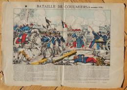 Vers 1880 - Image D'Épinal - La Bataille De Coulmier - Pinot & Sagaire - FRANCO DE PORT - - Lithographies