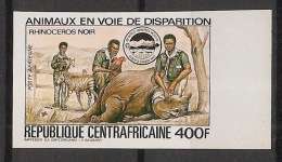 Centrafricaine - 1983 - PA N°Yv. 293D - Rhinocéros - Non Dentelé / Imperf. - Neuf Luxe ** / MNH / Postfrisch - Rhinozerosse