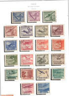 Chile PA 1942/46  Planes Over +Scott.C 69/88 New/used See Scan On Scott.Page - Cile