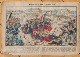 Vers 1880 - Image D'Épinal - La Bataille De Sedan - Didion à Metz - FRANCO DE PORT - - Lithographies
