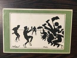 "AK  SILHOUETTE   "" FAUL ""    FOOTBALL  1921. - Silhouettes"