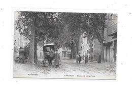 63 - CHAURIAT : Boulevard De La Poste, Attelage, - Francia