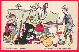 ILLUSTRATORE AURRENS - LES GOSSES ET LA GUERRE - TRESOR ET POSTES FRANCHISE MILITAIRE - Guerra 1914-18