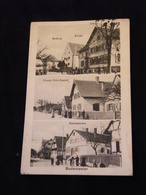 CPA Allemagne Bodersweier Kirche Rathaus Strasse Kehl Rastatt Herrenstrasse 1916 - Allemagne