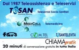 *CHIAMAGRATIS - N.132 - TESAN* - Scheda NUOVA (MINT) (MASTER) - Italia