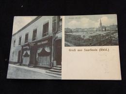 CPA Allemagne Gruss Aus Saarlouis Restaurant Peter Geraldy 1915 - Kreis Saarlouis