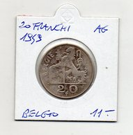 Belgio - 1949 - 20 Franchi - Argento - (MW1262) - 1945-1951: Reggenza