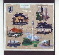 FRANCE . BLOCS & FEUILLETS . OBLITERES Du Bureau D'AIGLEMONT Le 17.02.2006. BLOC N: 88. CAPITALES EUROPEENNES . BERLIN - Blocs & Feuillets