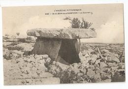 07 Saint Alban Sous Sampzon, Le Dolmen (animé) (2639) L300 - Autres Communes